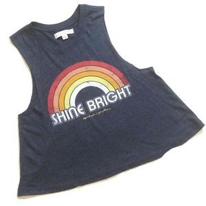 Spiritual Gangster Shine Bright muscle tee navy S
